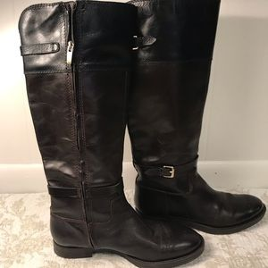 Enzo Angiolini riding boots black and brown
